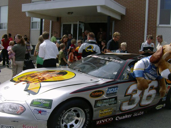 Late Model Goes To Church